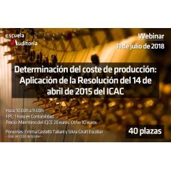Determinación del coste de produccción