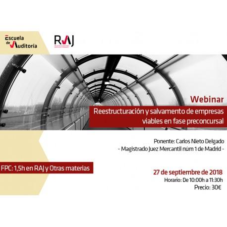 Reestructuración y salvamento de empresas viables en fase preconcursal