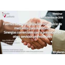 Comercialización del servicio de mediación para auditores. Sinergias comerciales con otros servicios profesionales.