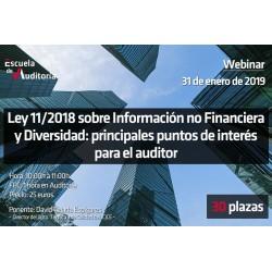 50160641 - Ley 11/2018 sobre Información no financiera y diversidad: principales puntos de interés para el auditor