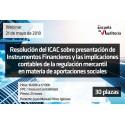 50164017 - Resolución del ICAC sobre presentación de Instrumentos Financieros