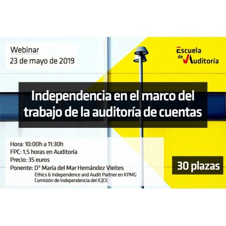 Independencia en el marco de la auditoría de cuentas