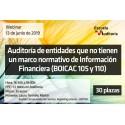 50164362 - Auditoría de entidades que no tienen un marco normativo de Información Financiera (BOICAC 105 y 110)