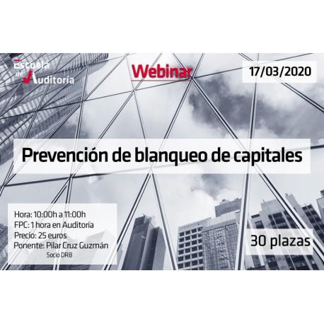 Prevención del blanqueo de capitales y financiación del terrorismo