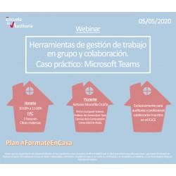 50177934 -Herramientas de gestión de trabajo en grupo y colaboración. Caso práctico: Microsoft Teams