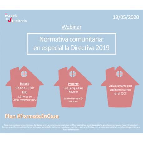 50178075 - Normativa comunitaria: en especial la Directiva 2019
