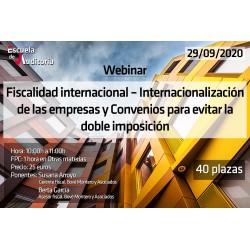 50182732 - Fiscalidad internacional – Internacionalización de las empresas y Convenios para evitar la doble imposición