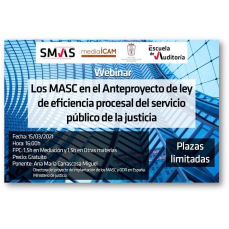 50189720 -  Los MASC en el Anteproyecto de ley de eficiencia procesal del servicio público de la justicia