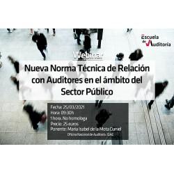 50190503 - Nueva Norma Técnica de Relación con  Auditores en el ámbito del Sector Público