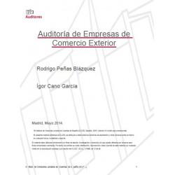 xxxx - Auditoría de las Empresas de Comercio exterior