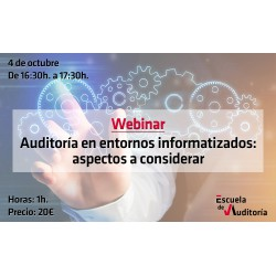 50139520 - Auditoría en entornos informatizados: aspectos a considerar