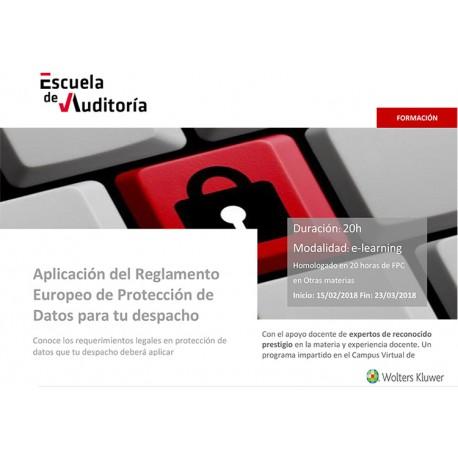 Aplicación Reglamento Europeo de Protección de Datos